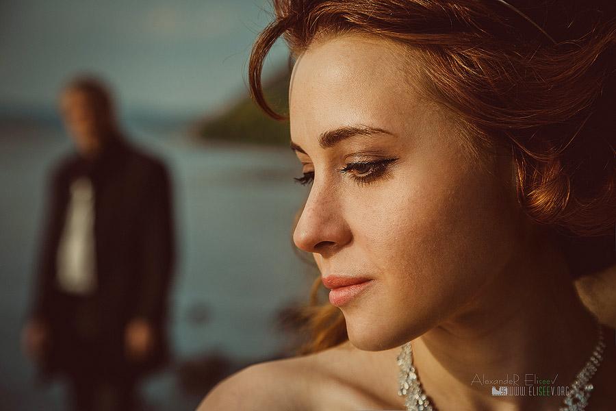свадебный портрет после ретуши