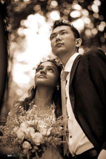свадебный портрет пары