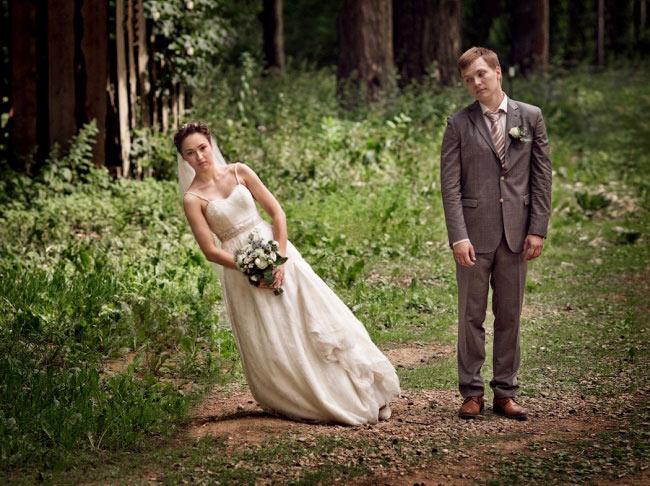 крутой прием: падающая невеста