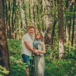 фотосессия беременной в лесу