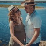 красивый вид на Волге- фотографируем беременную пару- красивые фото