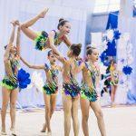 групповое выступление по художетсвенной гимнастике