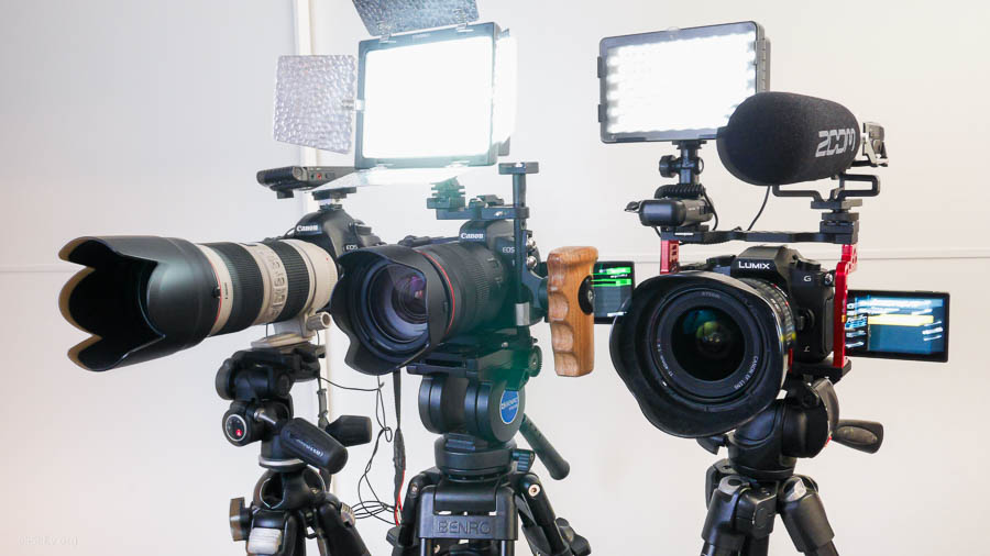профессиональный комплект оборудования для многокамерной съемки